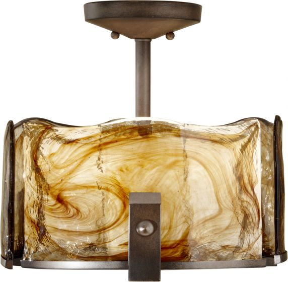 Murray Feiss Generation Brands: Feiss Aris 3-Light Semi-Flush Mount In Bronze Finish