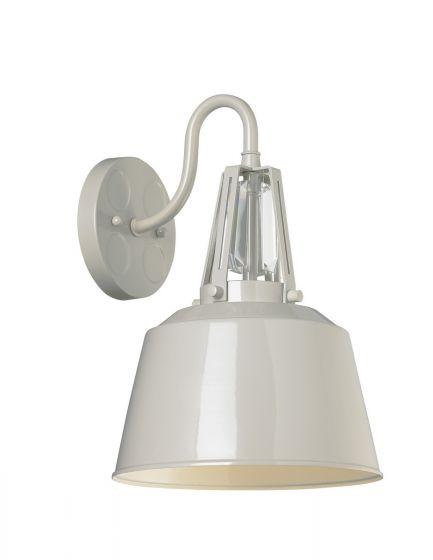 Feiss Freemont Hi Gloss Grey Outdoor Wall Lantern