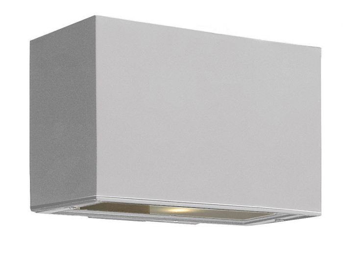 Hinkley Atlantis Dark Sky LED 1-Light Outdoor Medium Wall Light in Titanium