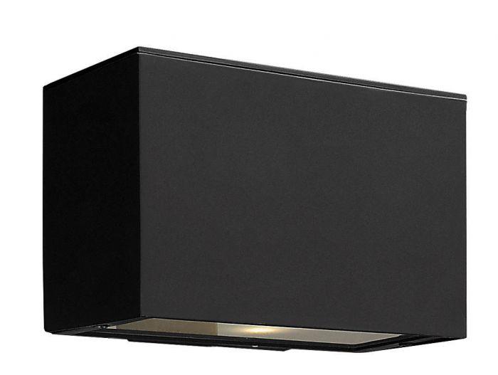 Hinkley Atlantis Dark Sky LED 1-Light Outdoor Medium Wall Light in Satin Black