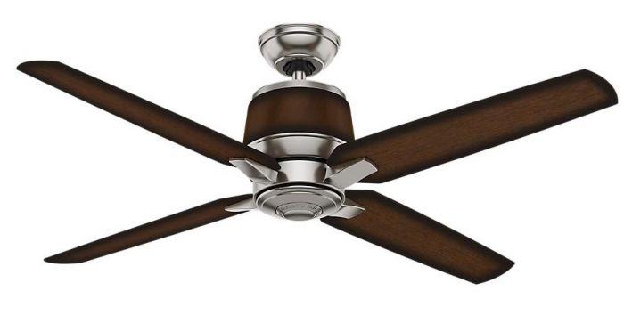 """Casablanca 54"""" Aris Indoor/Outdoor Ceiling Fan in Brushed Nickel"""