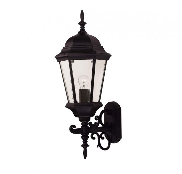 """Savoy House Exterior Collections 26"""" Wall Lantern in Black"""