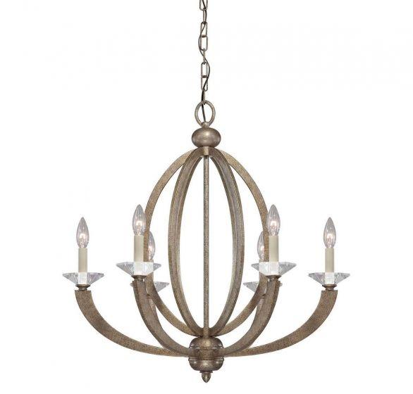 Savoy House Forum 6-Light Chandelier in Gold Dust