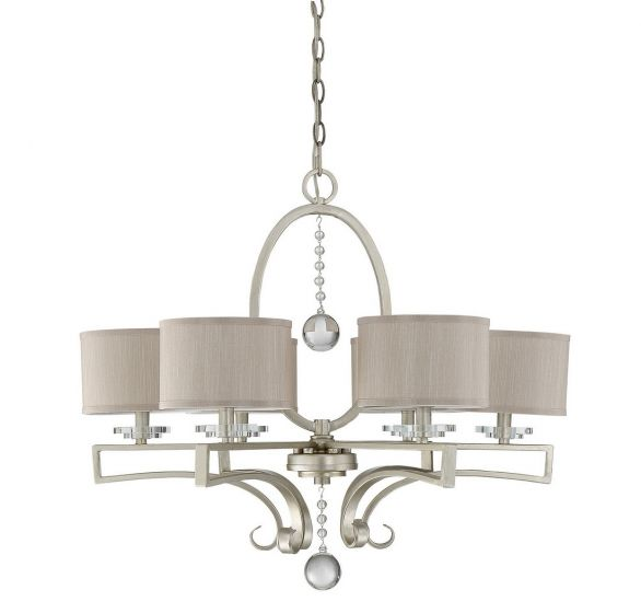 Savoy House Rosendal 6-Light Chandelier in Silver Sparkle