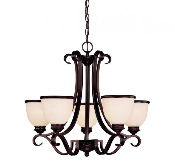 """Savoy House Willoughby 25"""" 5-Light Chandelier in English Bronze"""