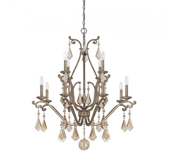 Savoy House Rothchild 12-Light Chandelier in Oxidized Silver