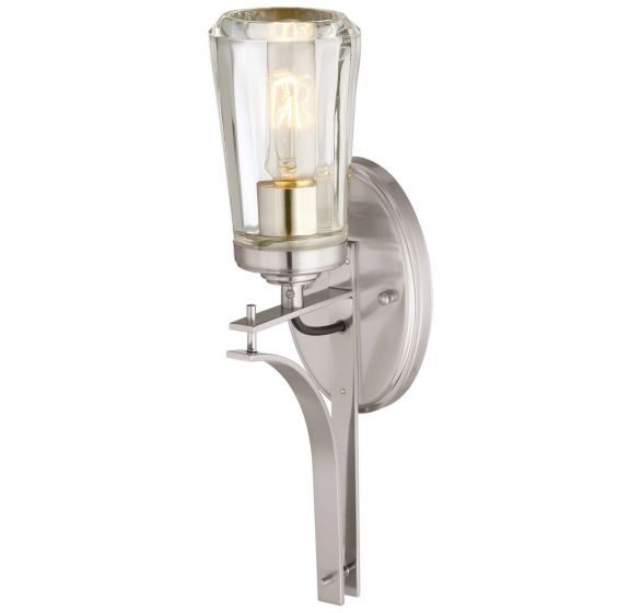 """Minka Lavery Poleis 16"""" Wall Sconce in Brushed Nickel"""