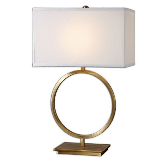 """Uttermost Duara 28.75"""" Table Lamp in Plated Brushed Brass"""