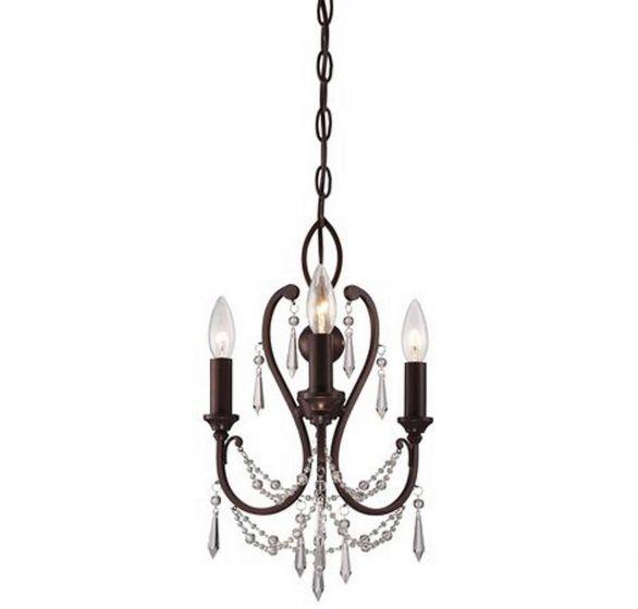 "Minka Lavery 3-Light 12"" Traditional Chandelier in Vintage Bronze"