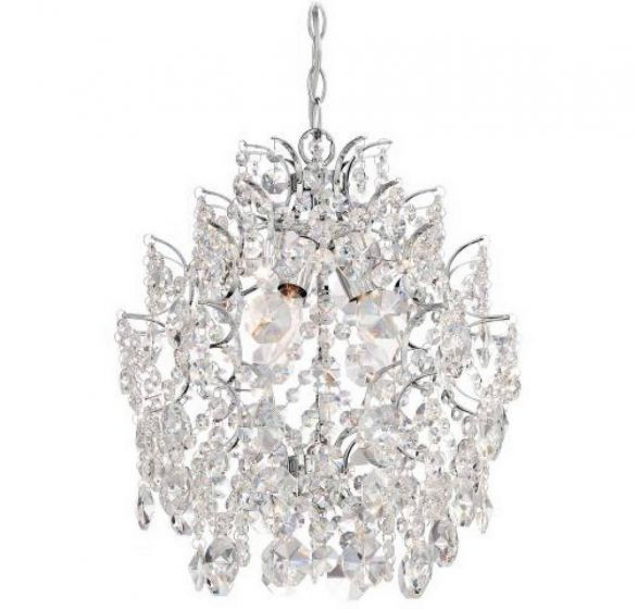 "Minka Lavery 3-Light 14"" Traditional Chandelier in Chrome"
