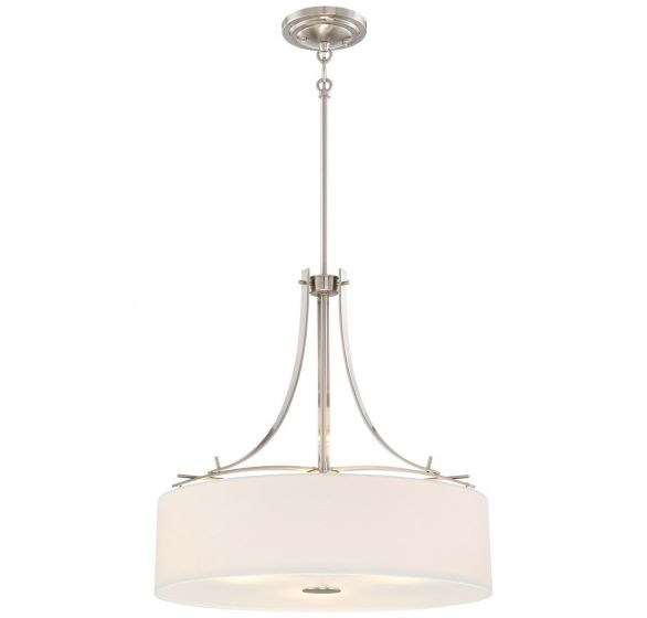 "Minka Lavery Poleis 3-Light 20"" Pendant Light in Brushed Nickel"