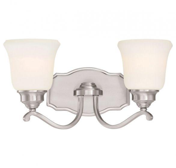 "Minka Lavery Savannah Row 2-Light 18"" Bathroom Vanity Light in Brushed Nickel"