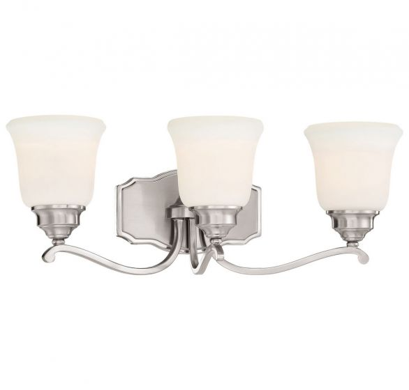 "Minka Lavery Savannah Row 3-Light 23"" Bathroom Vanity Light in Brushed Nickel"