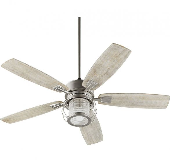 "Quorum International Galveston 52"" Indoor Ceiling Fan in Satin Nickel"