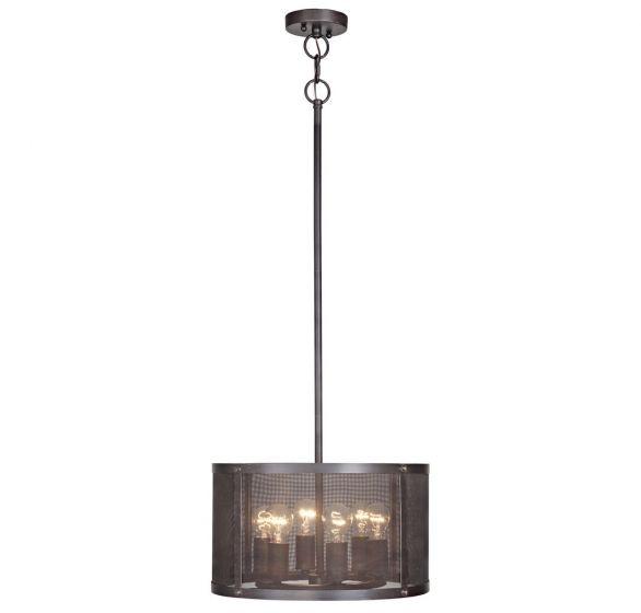 Craftmade Blacksmith 6-Light Pendant in Matte Black Gilded