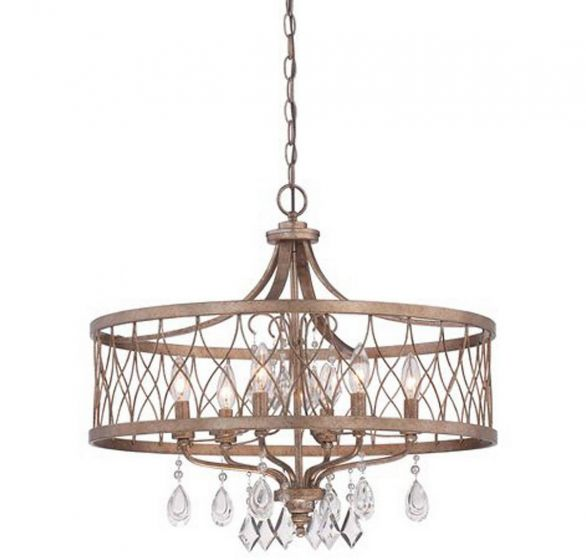 "Minka Lavery West Liberty 6-Light 24"" Traditional Chandelier in Olympus Gold"