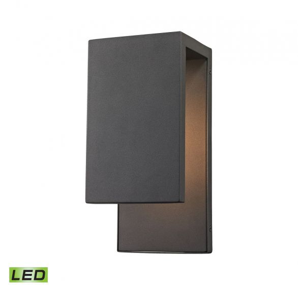 """Elk Lighting Pierre: Elk Lighting Pierre 1-Light LED 11"""" Outdoor Wall In"""