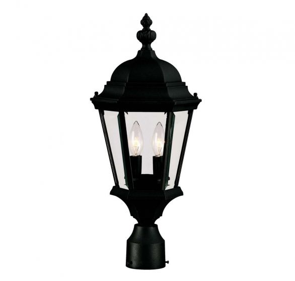 Savoy House Wakefield 2-Light Post Lantern in Textured Black