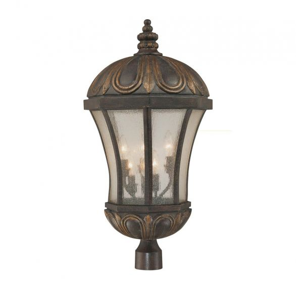 Savoy House Ponce de Leon 6-Light Post Lantern in Old Tuscan