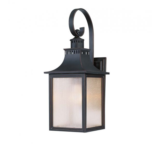 "Savoy House Monte Grande 17.75"" Outdoor Wall Lantern in Slate"