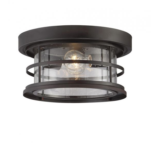 "Savoy House Barrett 13""  Outdoor Ceiling Light in English Bronze"