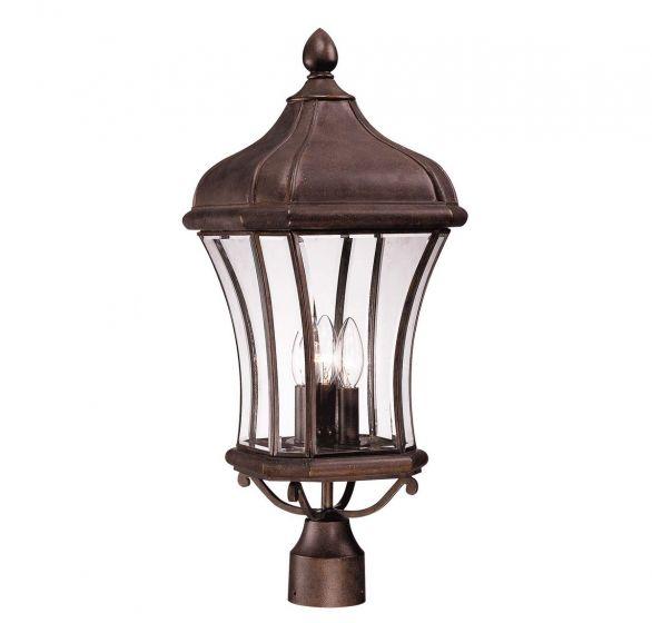 Savoy House Realto 3-Light Post Lantern in Walnut Patina