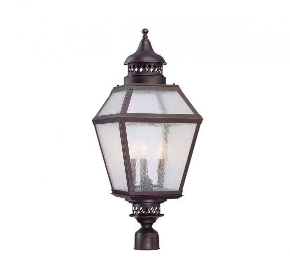 Savoy House Chiminea 3-Light Post Lantern in English Bronze