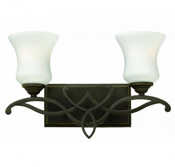 Hinkley Brooke 2-Light Bathroom Vanity Light in Olde Bronze