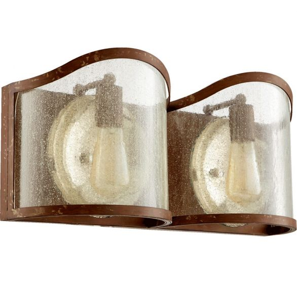 "Quorum International Salento 2-Light 9"" Bathroom Vanity Light in French Umber"
