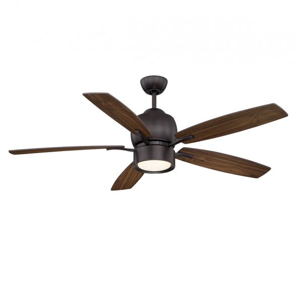"Savoy House Girard 52"" 5-Blade Ceiling Fan in English Bronze"
