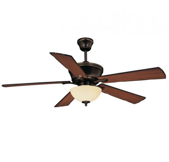 "Savoy House St. Simons 52"" Reversible Five Blade Ceiling Fan in Old Bronze"