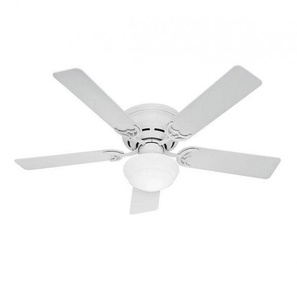 """Hunter Low Profile Plus 52"""" Ceiling Fan in White"""