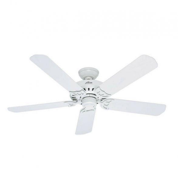 """Hunter Bridgeport 52"""" Indoor/Outdoor Ceiling Fan in White"""