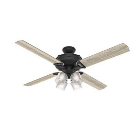 "Hunter Brunswick 60"" 4-Light LED Indoor Ceiling Fan in Iron/Pewter"