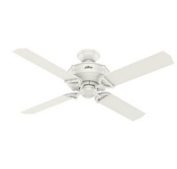 "Hunter Brunswick 52"" Ceiling Fan in White"