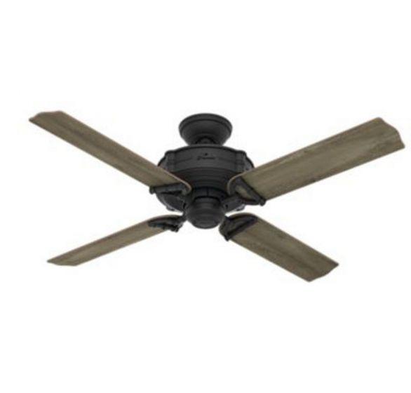 """Hunter Brunswick 52"""" Ceiling Fan in Iron/Pewter"""