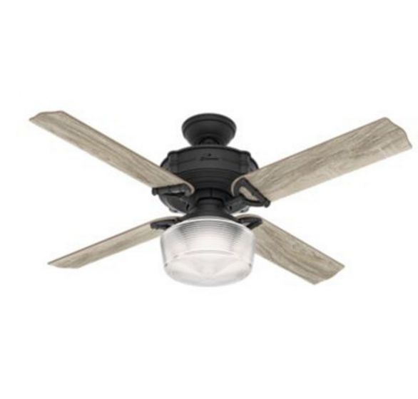 "Hunter Brunswick 52"" LED Indoor Ceiling Fan in Iron/Pewter"