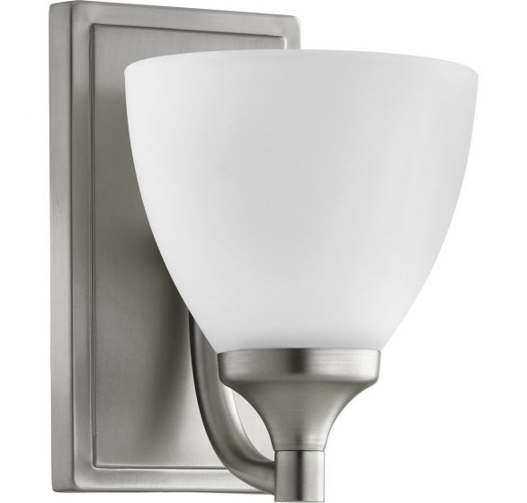 "Quorum Enclave 8"" Wall Sconce in Satin Nickel"