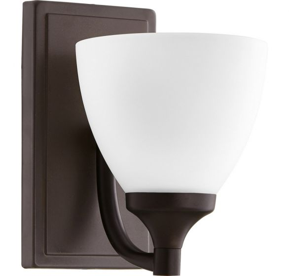 "Quorum Enclave 8"" Wall Sconce in Oiled Bronze"