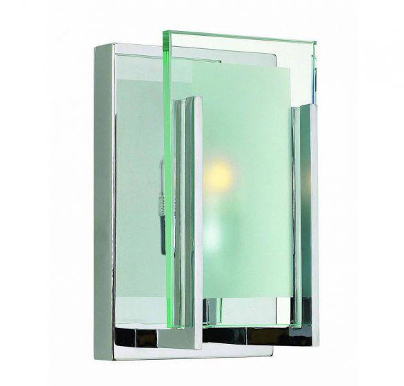 Hinkley Latitude 1-Light Bathroom Wall Sconce in Chrome