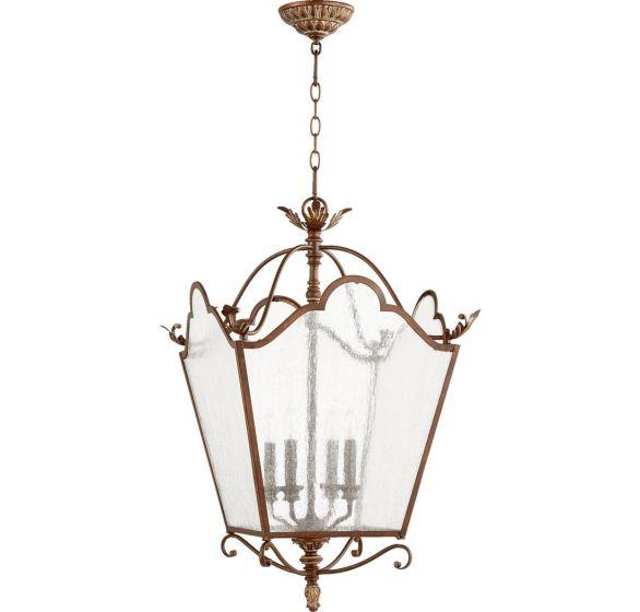 "Quorum International Salento 4-Light 19"" Foyer Light in Vintage Copper"