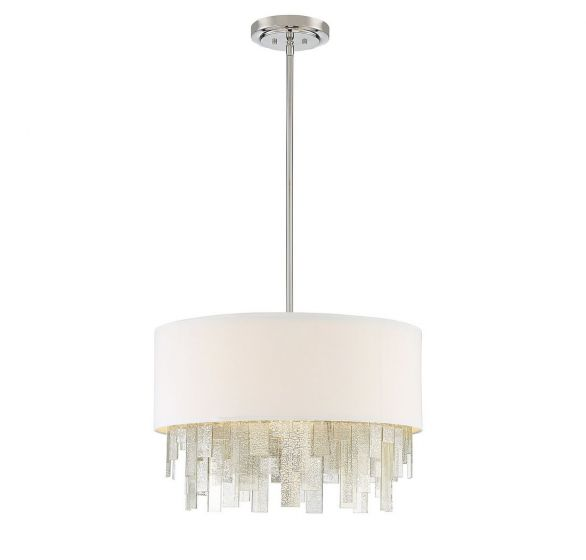 """Savoy House Fairmont 24"""" 3-Light Pendant in Polished Nickel"""