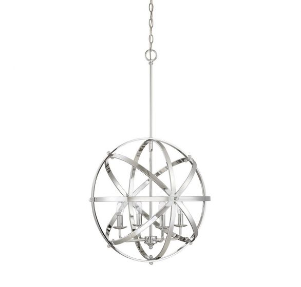 Savoy House Dias 4-Light Orb Pendant in Chrome
