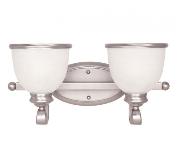 Savoy House Willoughby 2-Light Vanity Bar in Pewter