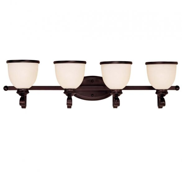 Savoy House Willoughby 4-Light Vanity Bar in English Bronze