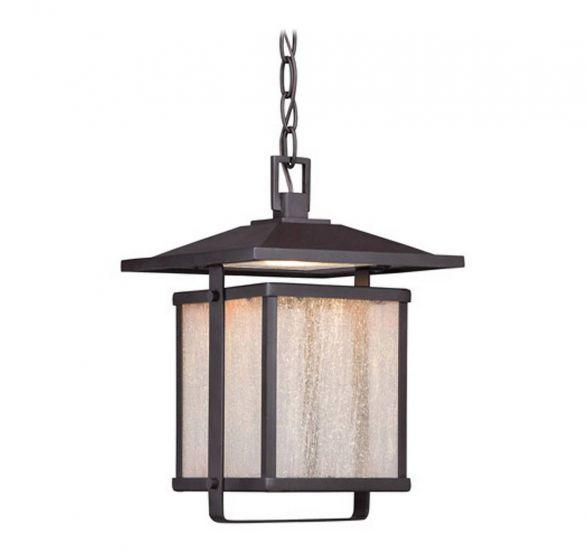"The Great Outdoors Hillsdale 13"" Outdoor Hanging Light in Dorian Bronze"