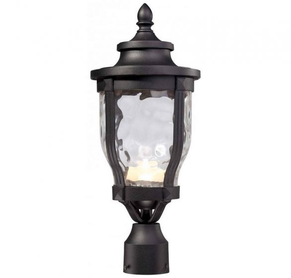 """The Great Outdoors Merrimack™ Led 19"""" Outdoor Post Light in Black"""