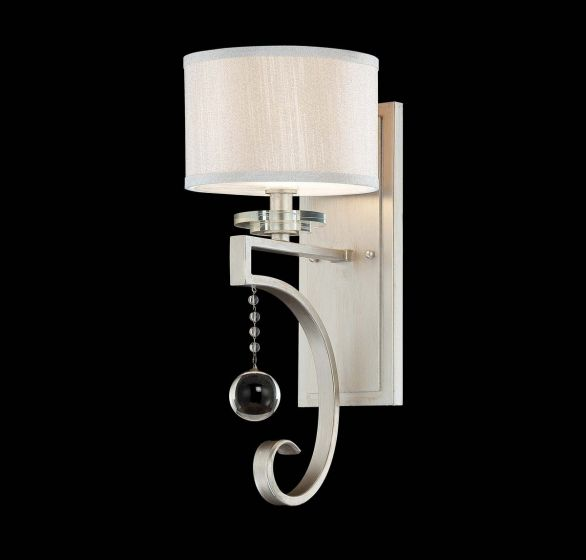 Savoy House Rosendal Wall Sconce in Silver Sparkle