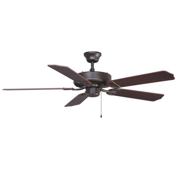 "Fanimation 52"" Aire Decor Indoor/Outdoor Ceiling Fan in Bronze w/Cherry-Walnut Blades"