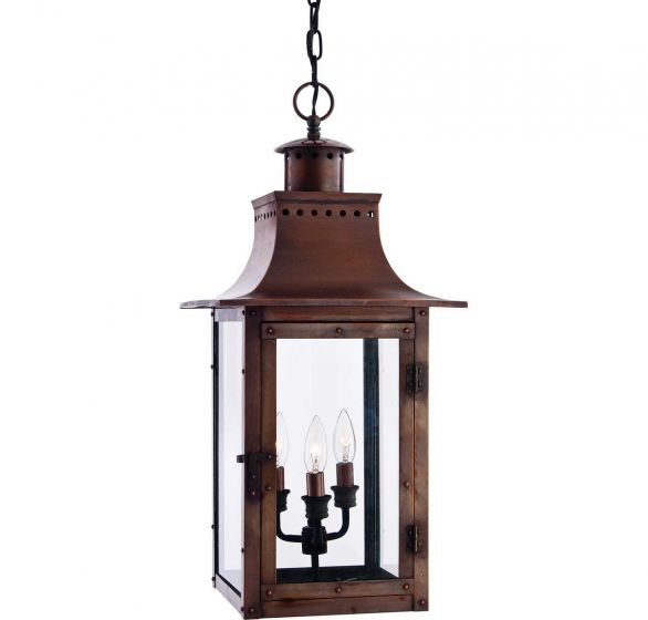 "Quoizel Chalmers 12"" Outdoor Lantern in Copper Finish"